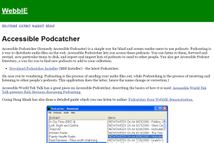Imagem do website accessible_podcatcher