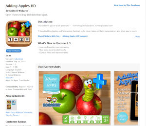 Imagem website adding_apples_iPad