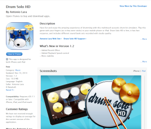 Imagem do website App_drum_solo_ipad