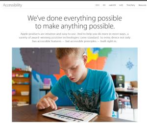 Imagem do website apple_accessibility