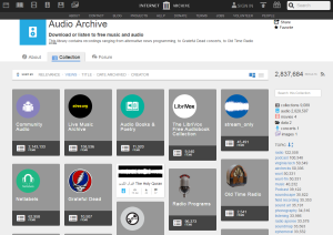 Imagem do website audio_archive