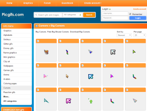 Imagem do website Big_cursors