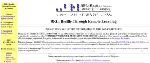 Imagem website Braille Remore Learning