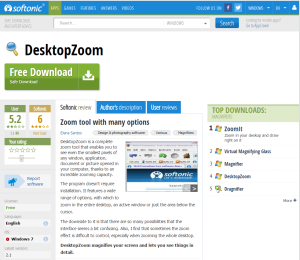 Imagem do website DesktopZoom