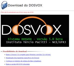 Imagem website Dosvox