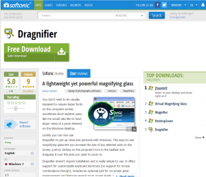 Imagem do website Dragnifier