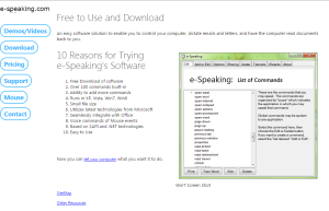 Imagem website  e-Speaking