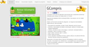 Imagem do website GCompris