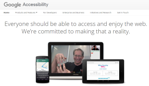Imagem do website Google_accessibility