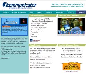 Imagem website iCommunicator