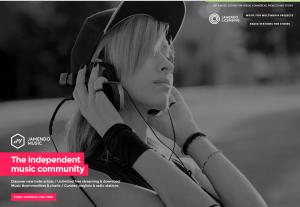 Imagem do website jamendo