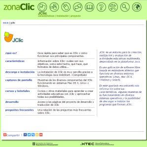 Imagem do website  JCLIC