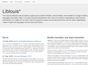 Imagem website Liblouis