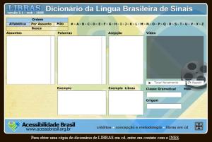 Imagem website Libras