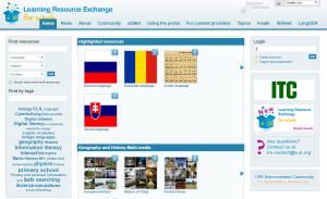 Imagem do website Learning Resource Exchange da European Schoolnet