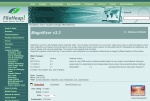 Imagem do website Magnifixer