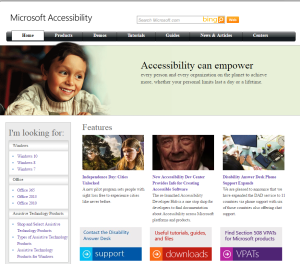Imagem do website microsoft_accessibility