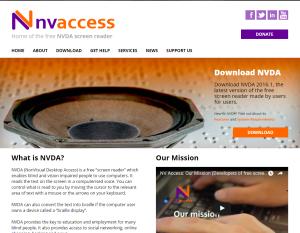 Imagem website NVDA