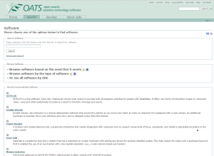Imagem website OATS
