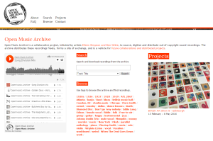Imagem do website Open_Music_Archive