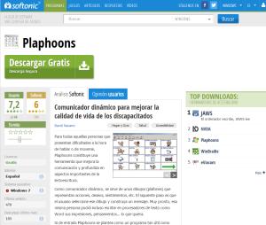 Imagem do website para descarregar Plaphoons