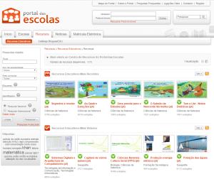 Imagem do website Portal_das_Escolas