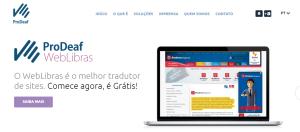 Imagem website ProDeaf