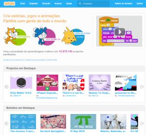 Imagem do website Scratch