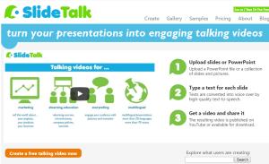 Imagem website  slide_talk
