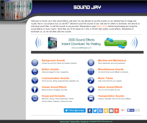 Imagem do website sound_jay