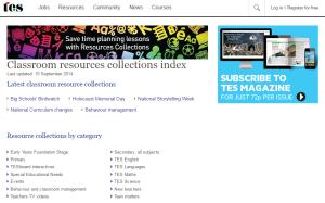 Imagem do website TES