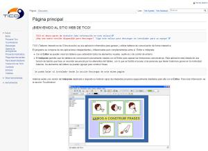 Imagem do website Tico