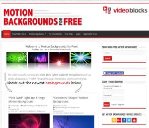 Imagem do website Videoblocks