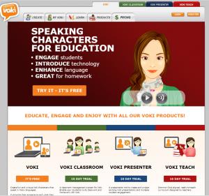 Imagem website  Voki