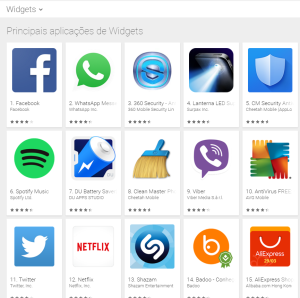 Imagem website widgets_android
