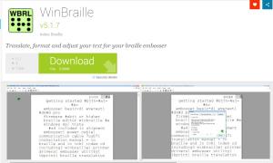 Imagem website winbraille