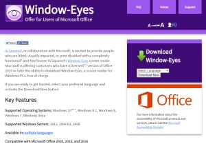 Imagem website  window-Eyes