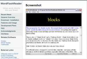 Imagem website wordflashreader