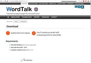 Imagem website  WordTalk