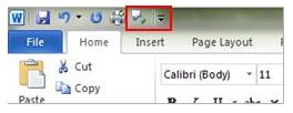 speak - quick access toolbar